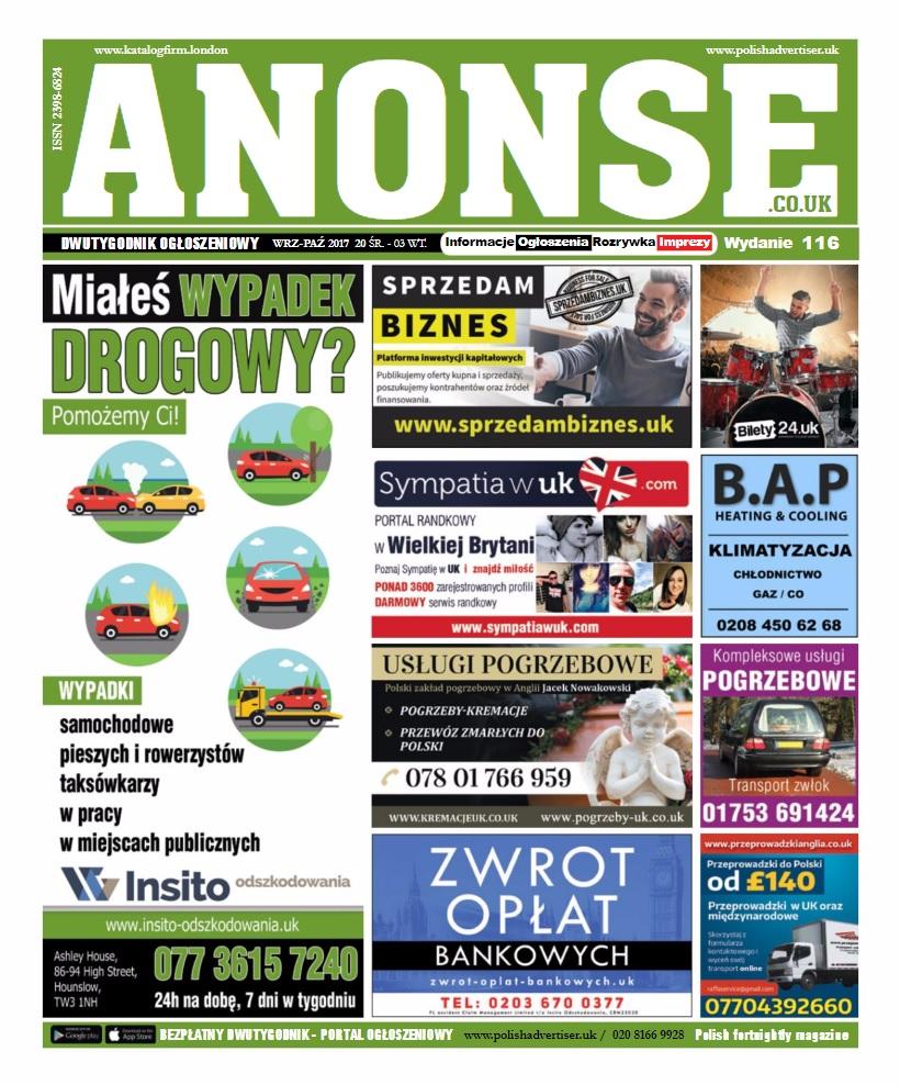 Anonse - Wydanie papierowe